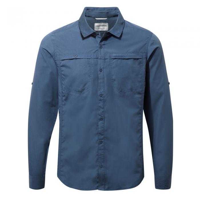 Kiwi Trek Long Sleeved Shirt Vintage Indigo