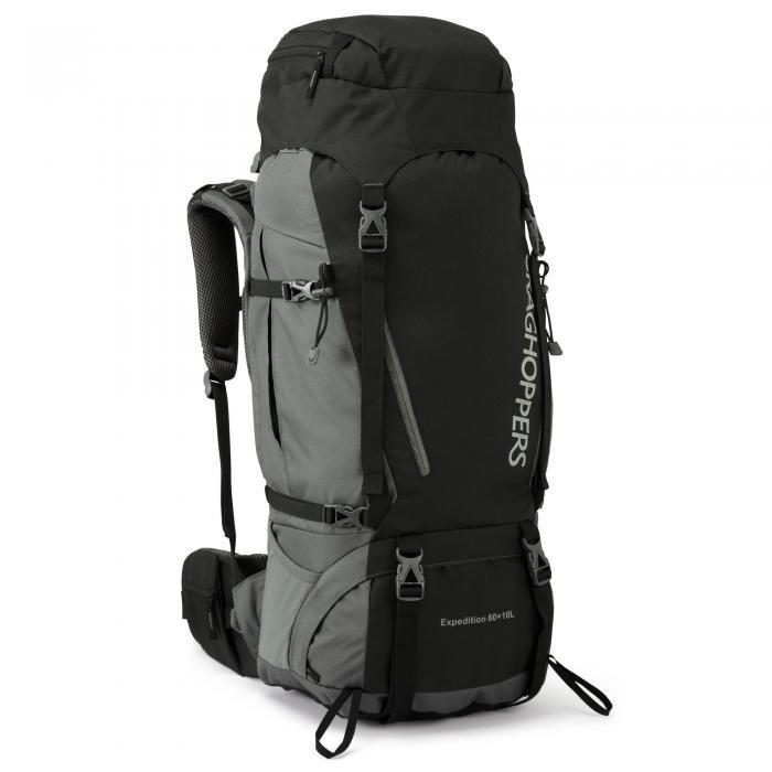 60L + 10L Hooded Rucksack Black