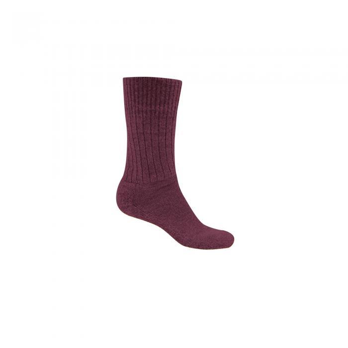 Womens Wool Hiker Sock Rioja Red Marl