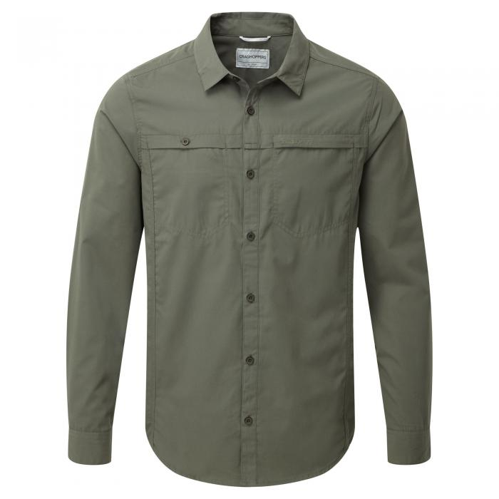 Kiwi Trek Long Sleeved Shirt Parka Green