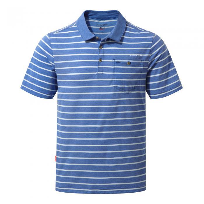 NosiLife Gilles Short Sleeved Polo Deep Blue Combo