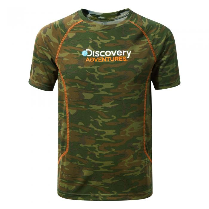 Discovery Adventures Short Sleeved T-Shirt Dark Moss Combo