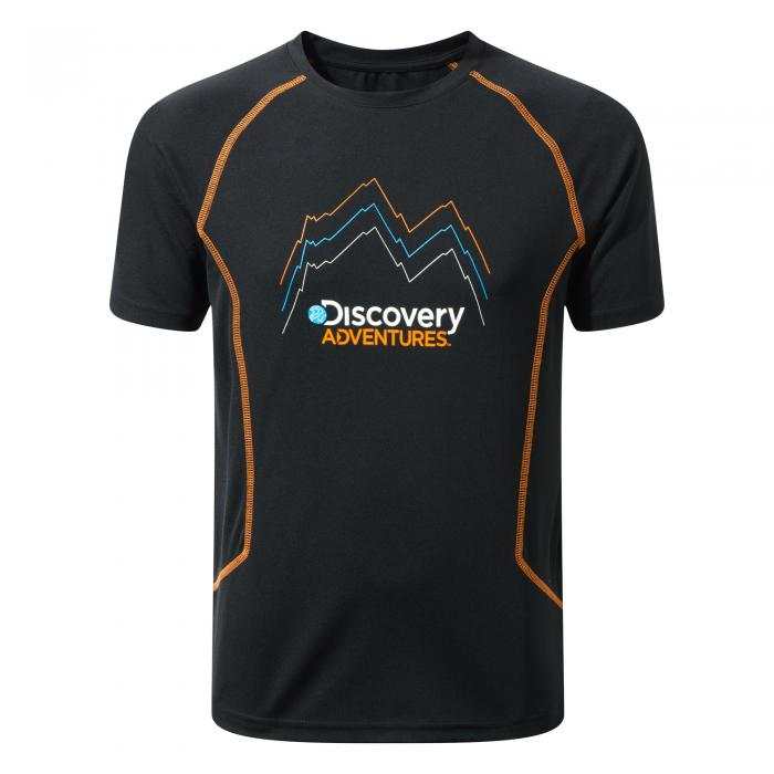 Disvovery Adventures Short Sleeved T-Shirt Black