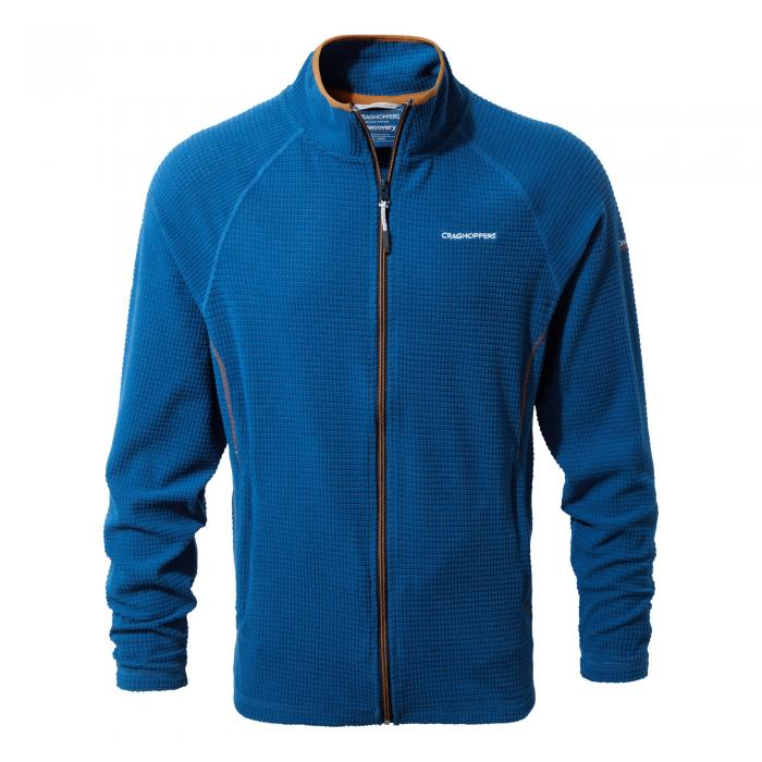 Mens Full Zip Fleece Deep Blue