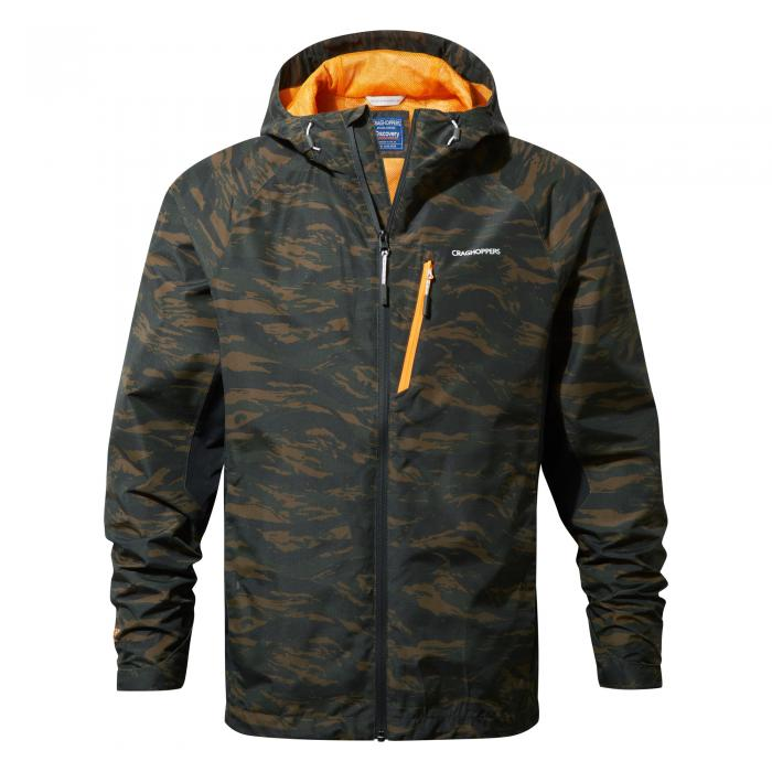 Mens Waterproof Jacket Dark Moss Combo