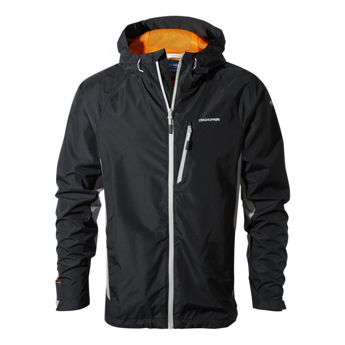 Mens Waterproof Jacket Black Quarry Grey