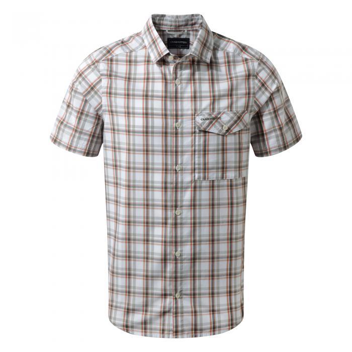 Walkton Short Sleeved Shirt Dark Grey Combo