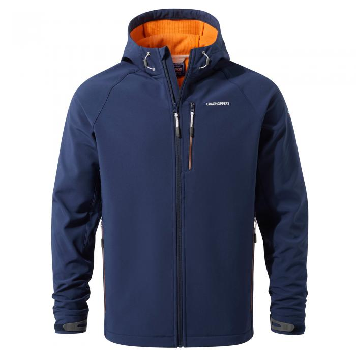 Mens Hooded Windshield Jacket Night Blue