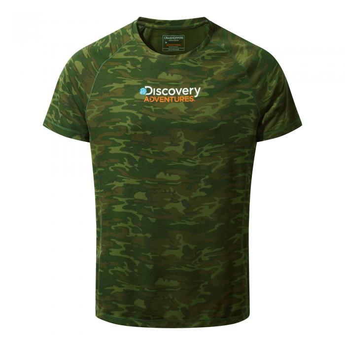 Mens Short Sleeved T-Shirt Dark Moss Combo