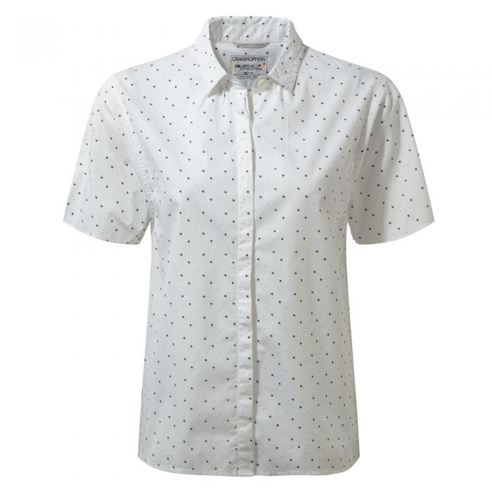 Natalie Short Sleeved Shirt Optic White Combo