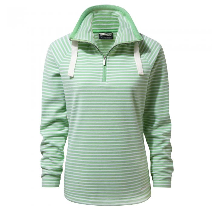 Rhonda Half Zip Fleece Apple Tang Combo