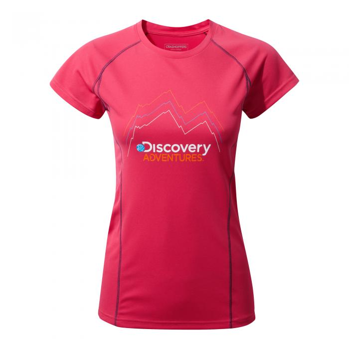 Womens Short Sleeved T-Shirt Electric Pink