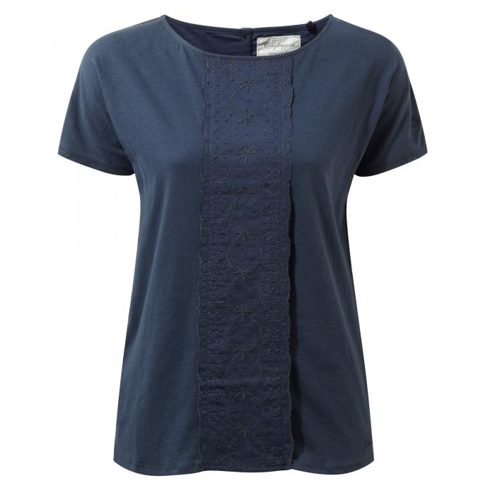 Connie Short Sleeved Top Soft Navy