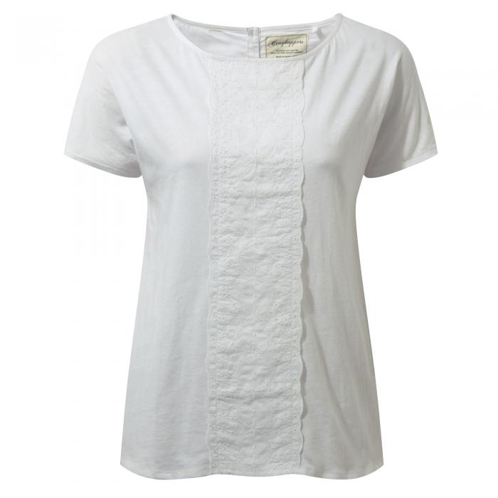 Connie Short Sleeved Top Optic White