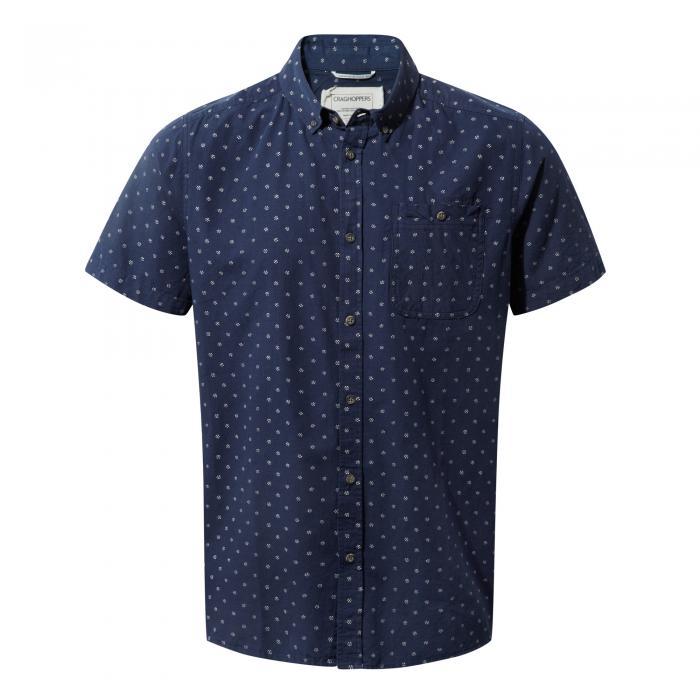 Deacon Short Sleeved Shirt Night Blue Combo