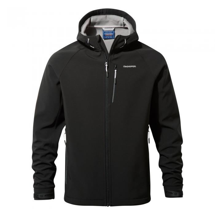 Mens Hooded Windshield Jacket Black