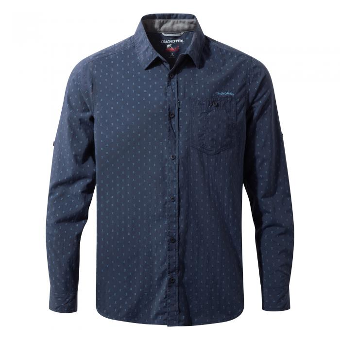 NosiLife Todd Long Sleeved Shirt Night Blue Combo