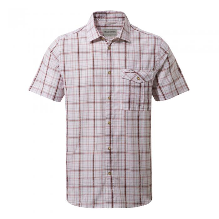 Westlake Short Sleeved Shirt Oxblood Combo