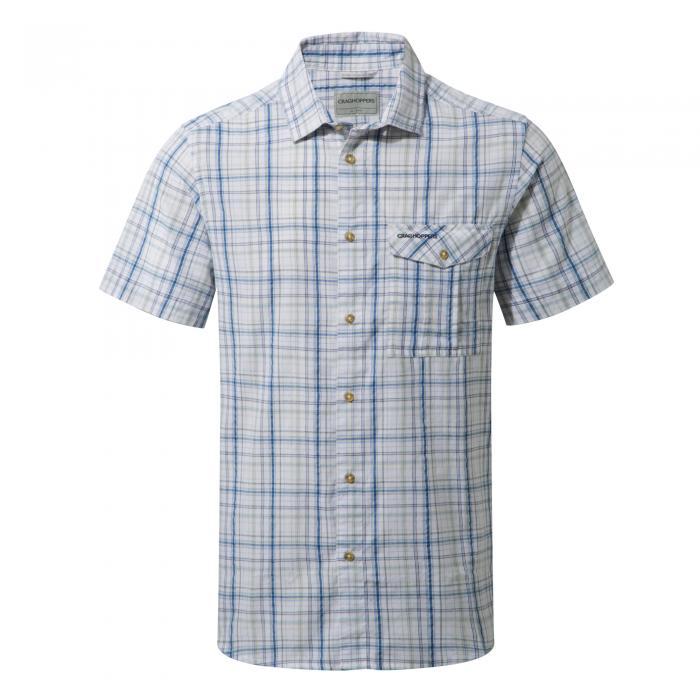 Westlake Short Sleeved Shirt Deep Blue Combo