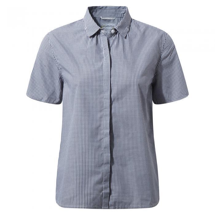 Natalie Short Sleeved Shirt Dark Navy Combo