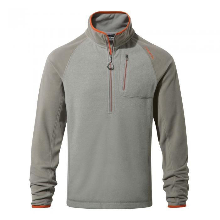 Salisbury Half Zip Soft Grey Marl