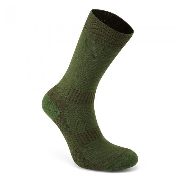 Heat Regulating Travel Sock Lime Khaki