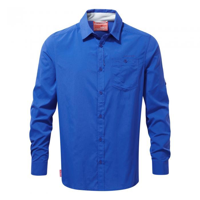 NosiLife Tatton Long Sleeved Shirt Deep Blue