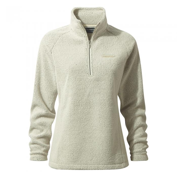 Moira Half Zip Fleece Ecru
