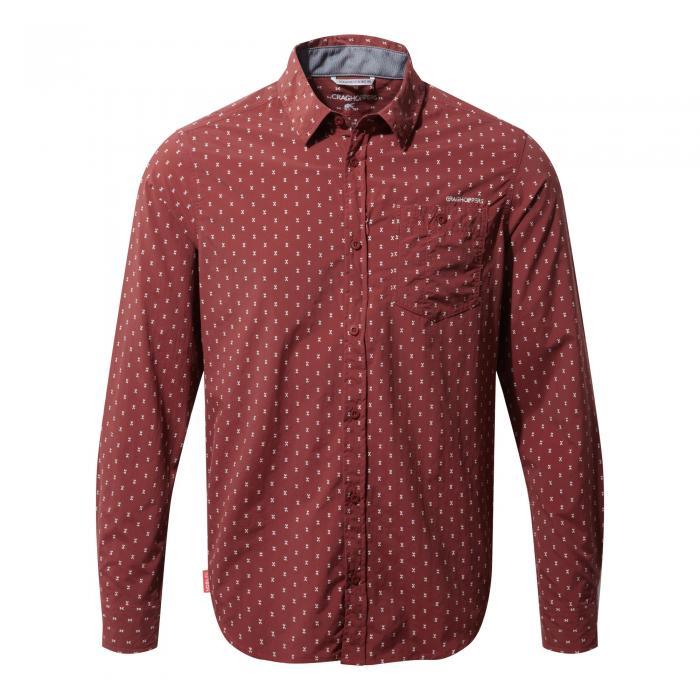 NosiLife Todd Long Sleeved Shirt Carmine Combo