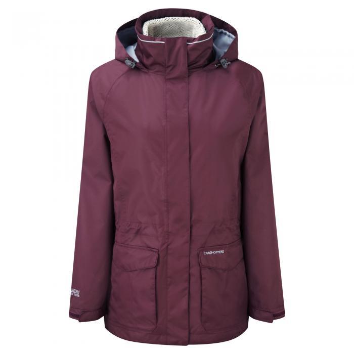 Ellie 3 in 1 Jacket Dark Rioja/Ecru