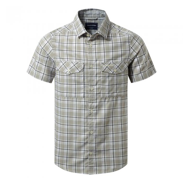 Wensley Short Sleeved Shirt Quarry Grey Combo