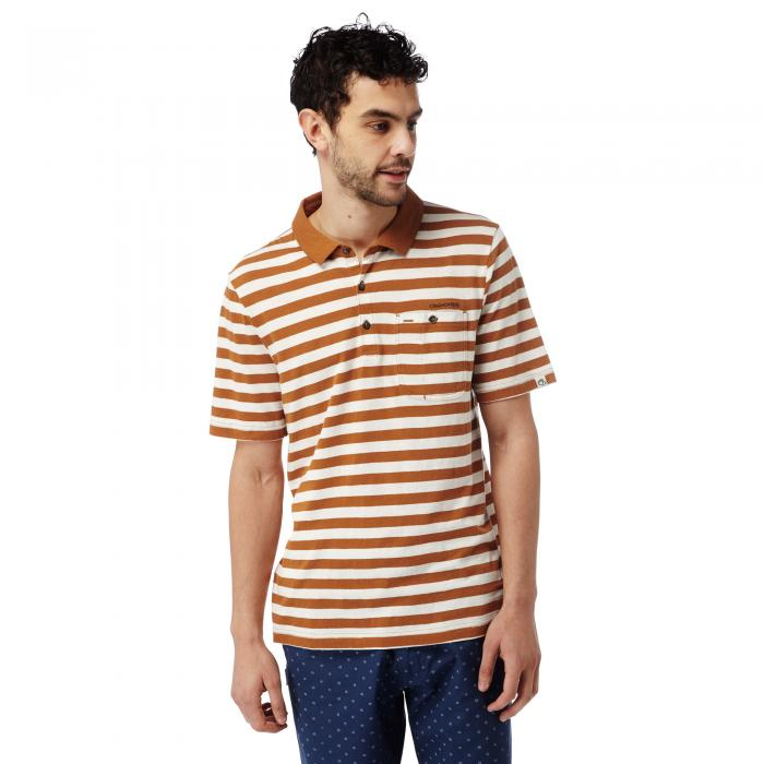 Fraser Short Sleeved Polo Tobacco Combo