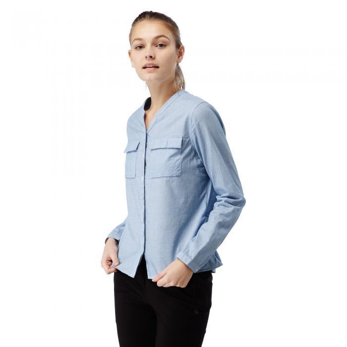 Ravello Long Sleeved Shirt Pale Blue