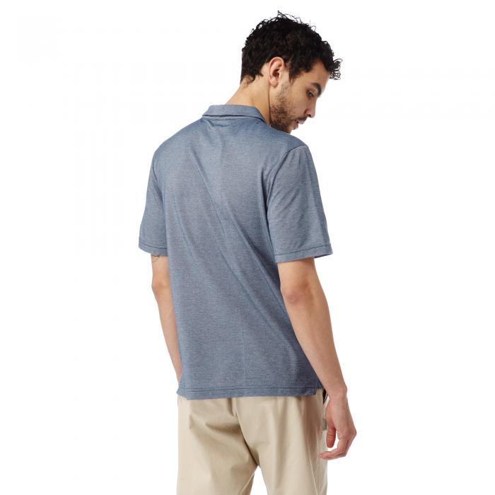 NosiLife Gilles Short Sleeved Polo Night Blue Marl