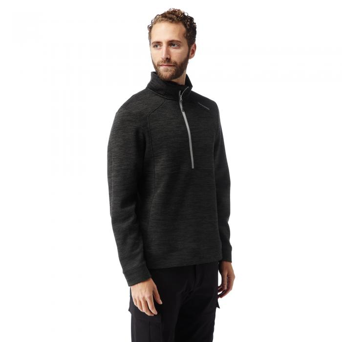 Vector Half Zip Black