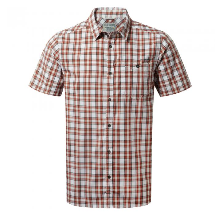 Elmwood Short Sleeved Shirt Carmine Combo