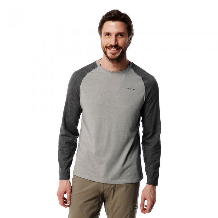 NosiLife Bayame Long Sleeved T-Shirt Black Pepper Grey