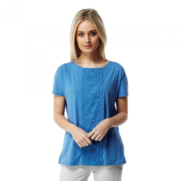 Connie Short Sleeved Top Bluebell