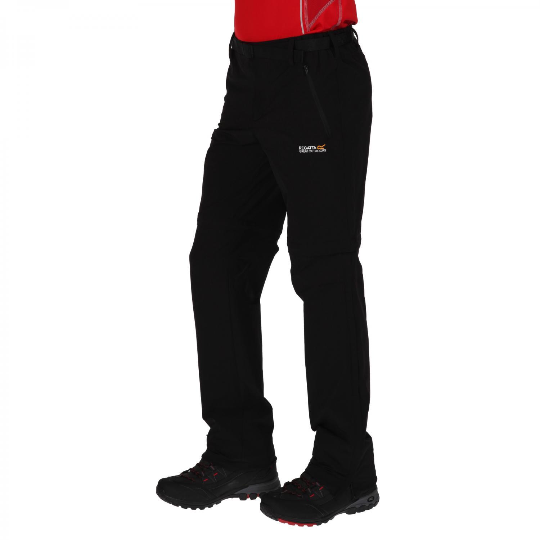 Xert Stretch Zip Off Trousers II Black