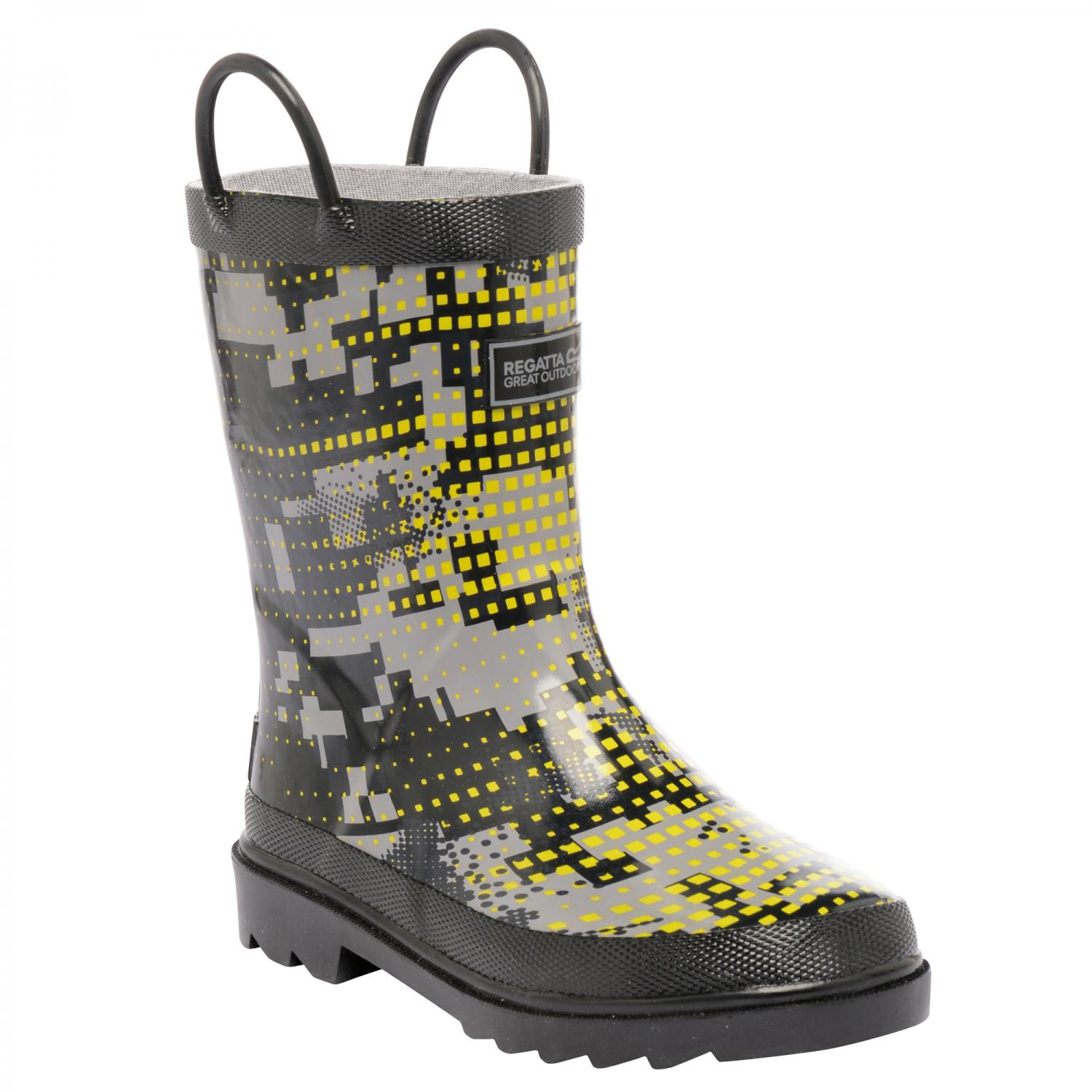 Minnow Junior Wellington Boot Ash RockGrey