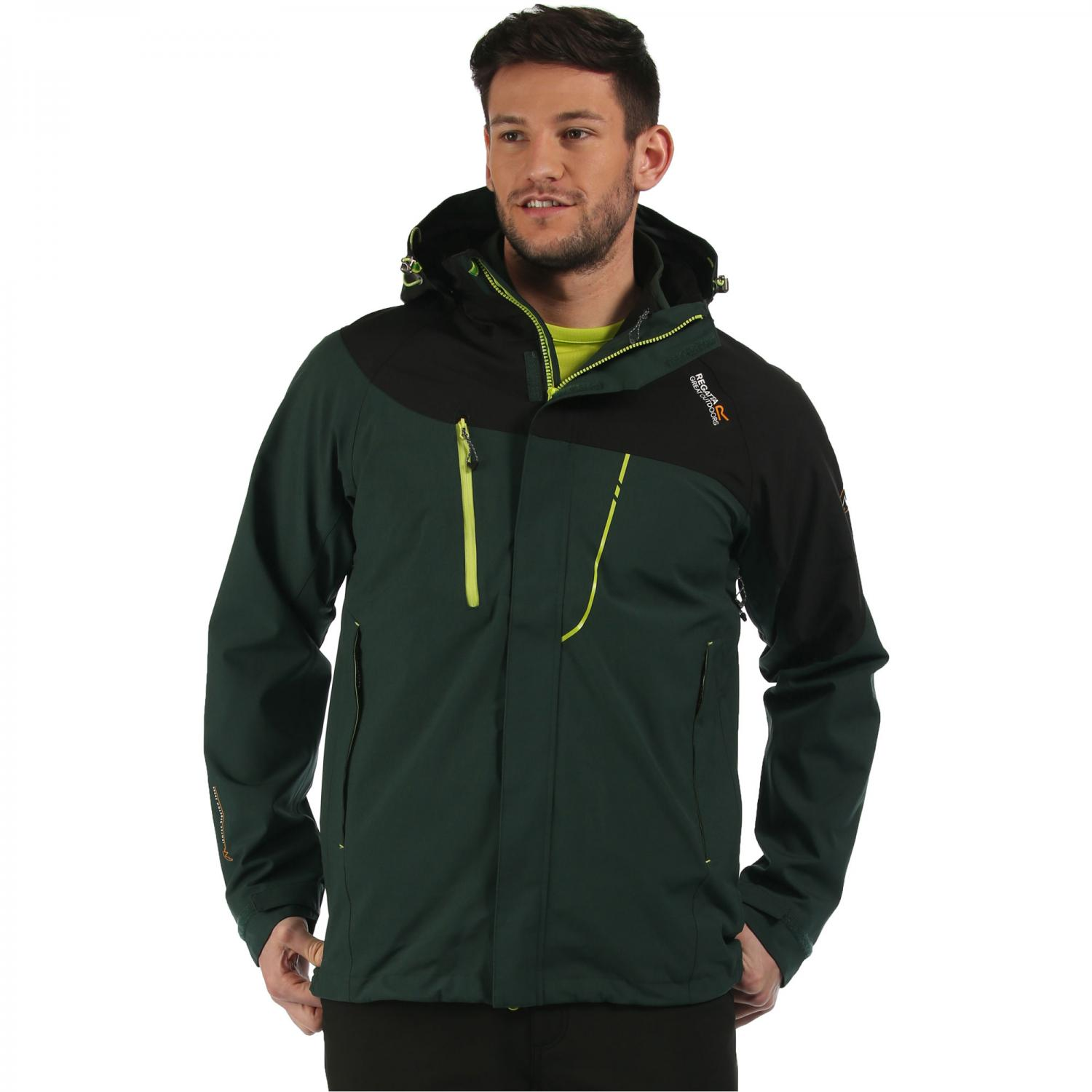 Sacramento II 3 in 1 Jacket Dark Spruce Black