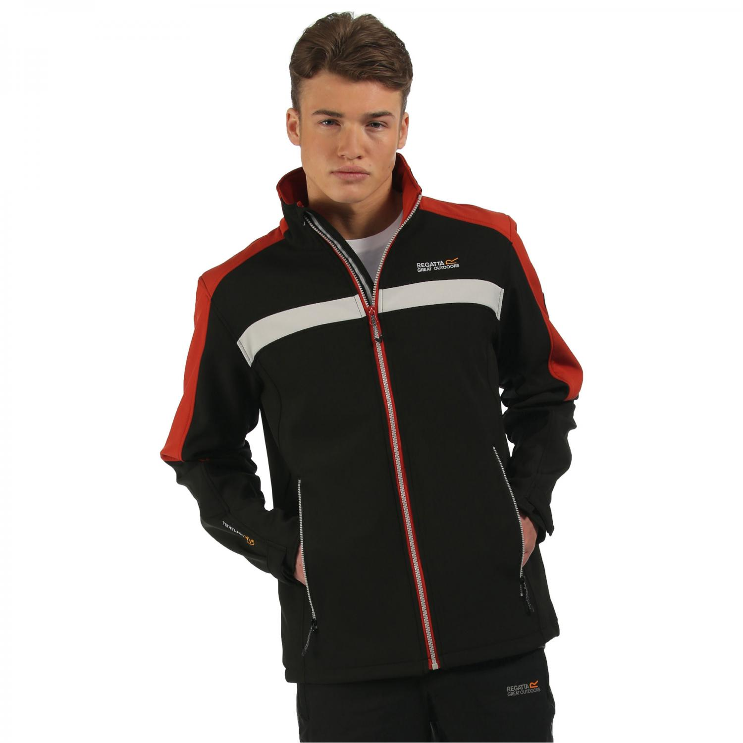Parkley Softshell Jacket Black Burnt Tikka