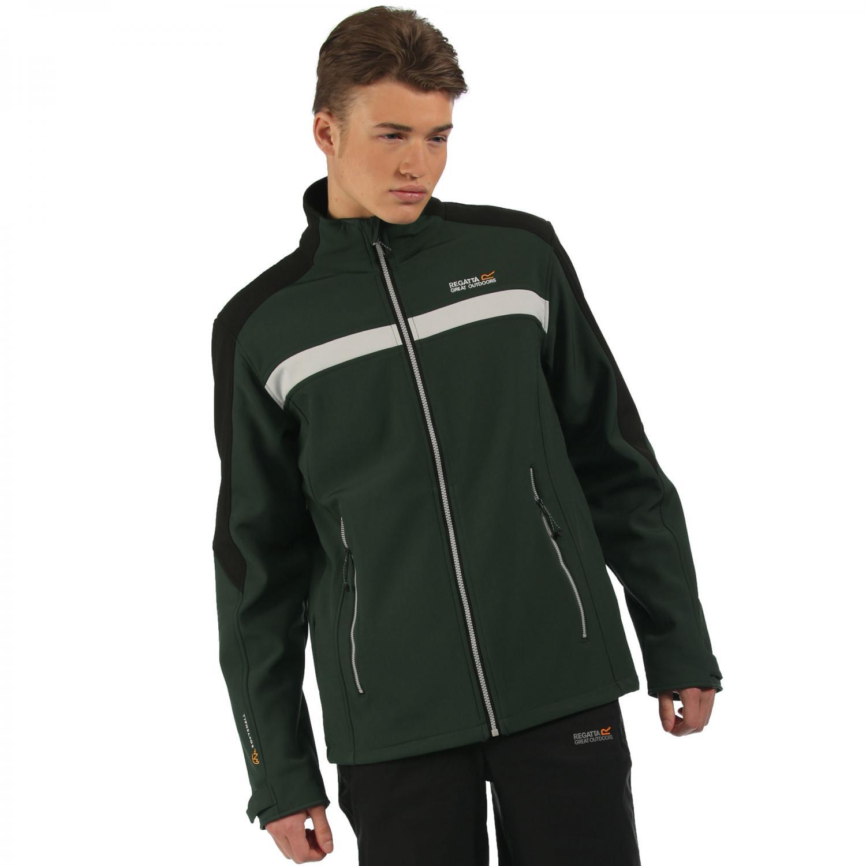 Parkley Softshell Jacket Dark Spruce Black