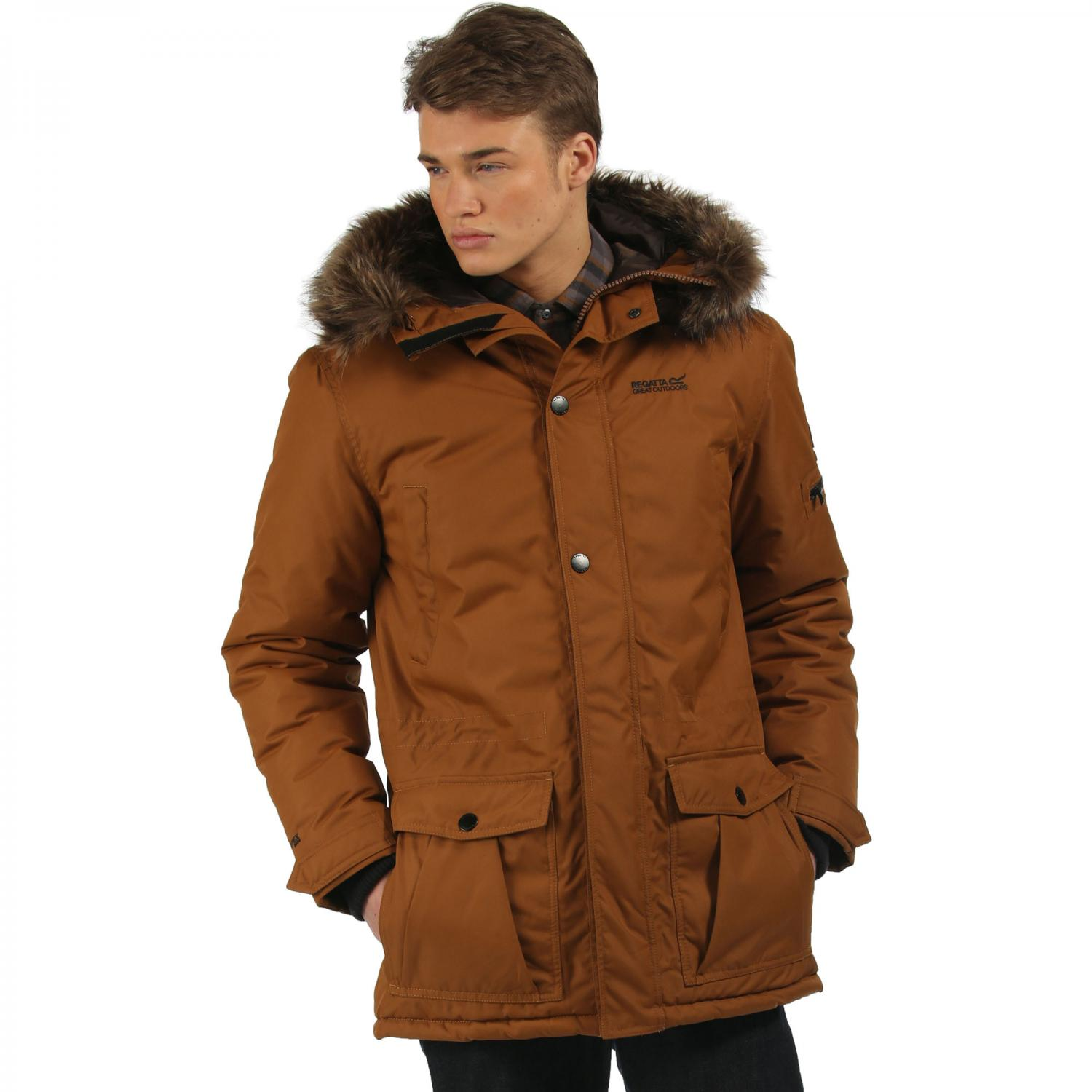 Alphar Parka Jacket Brown Tan