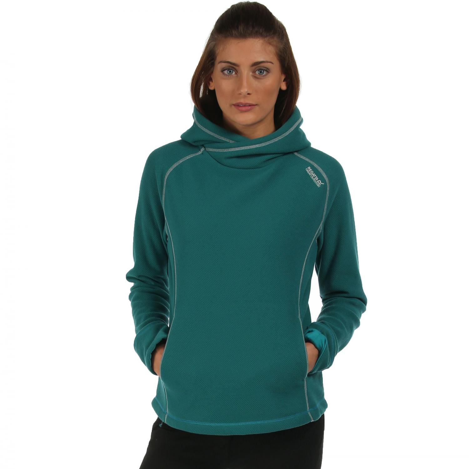 Womens Antero Hooded Fleece Deep Lake
