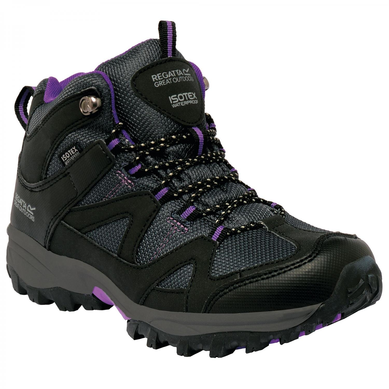 Lady Gatlin Mid Walking Boot Black Purple