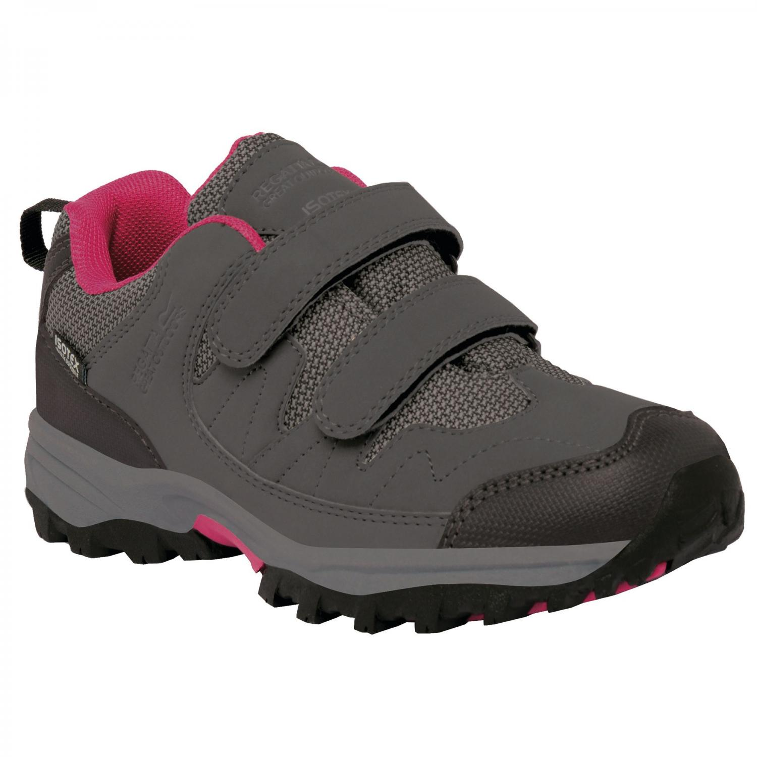 Helmshore Low Junior Walking Shoe Steel Vivacious