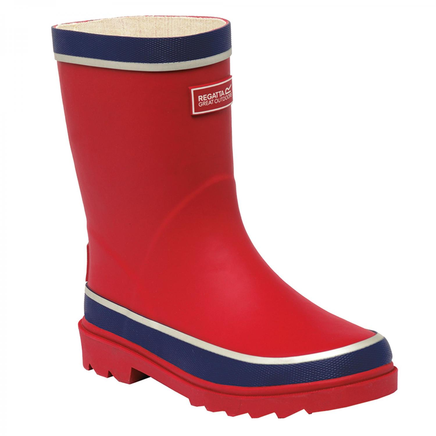Foxfire Junior Wellington Boot Red Prussian