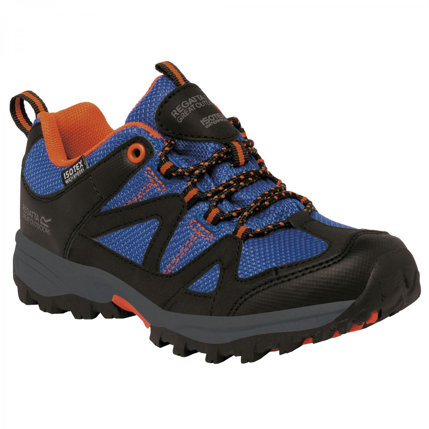 Gatlin Low Junior Walking Shoe Blue Orange