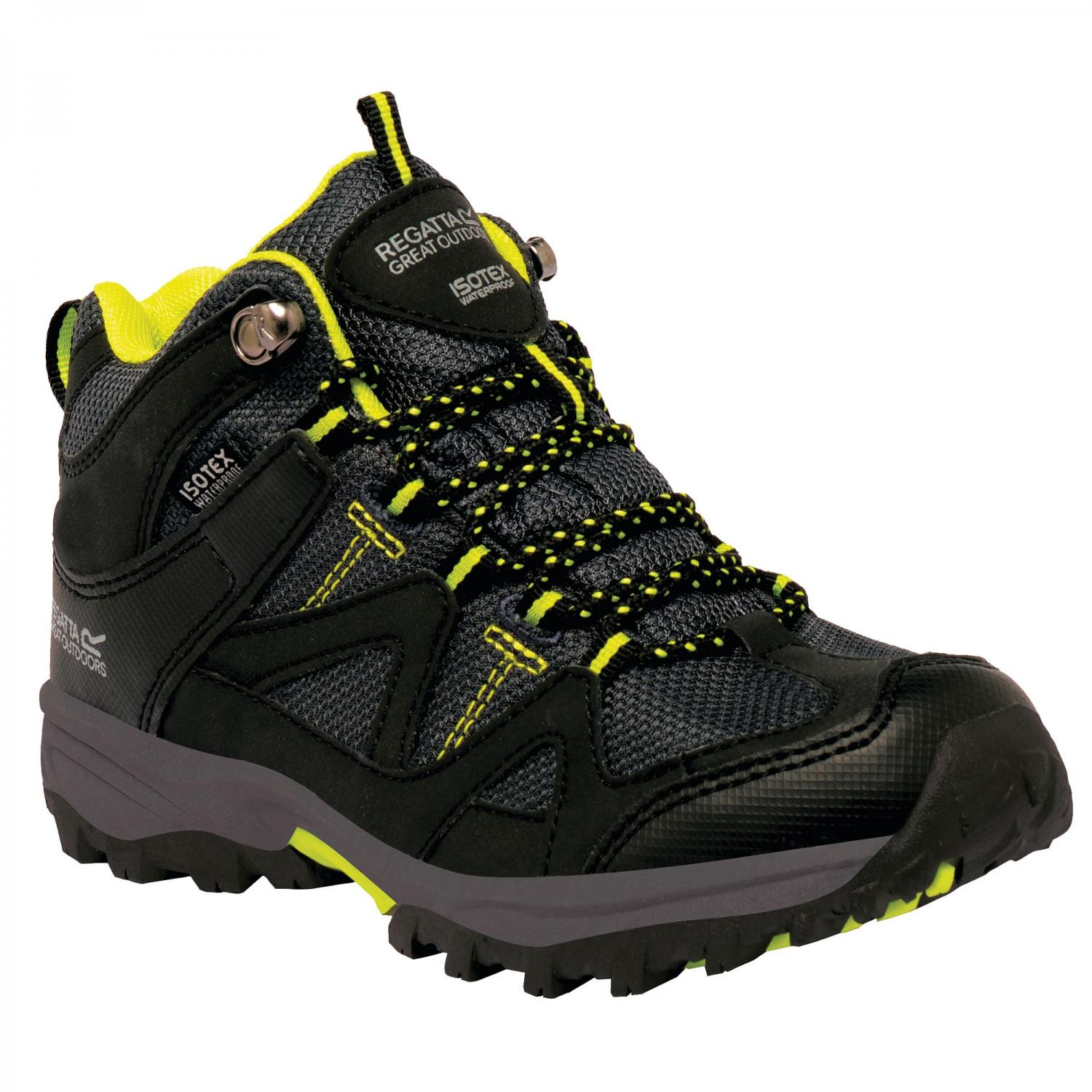 Gatlin Mid Junior Walking Boot Black Neon Spring